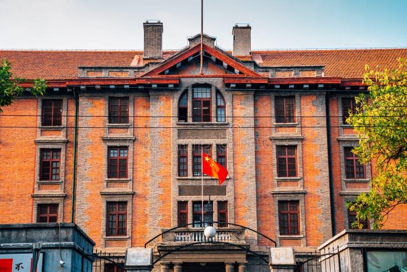 Rote errichtende historische Architektur der Universität von Peking in Peking, China lizenzfreie stockfotografie