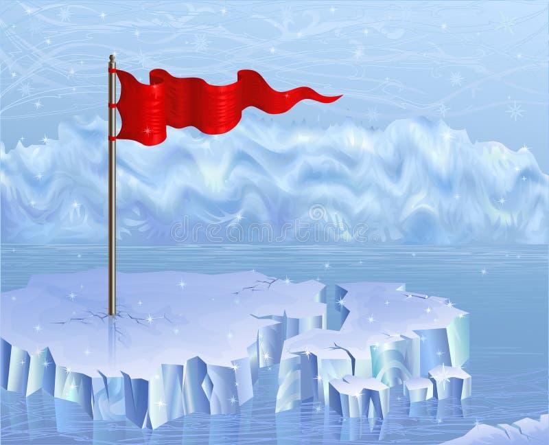 Rote Fahne lizenzfreie abbildung