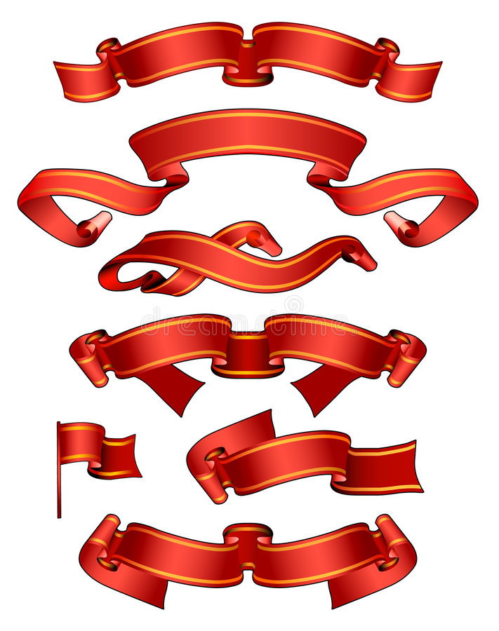 Rote Fahnen vektor abbildung
