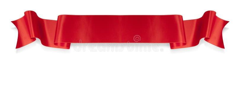 Rote Farbbandfahne der Eleganz stockbild