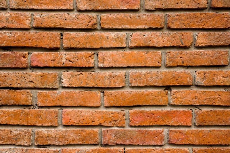 Rote Farbe der Backsteinmauer, Beschaffenheitshintergrund, altes Braun, Abschluss oben lizenzfreie stockfotografie
