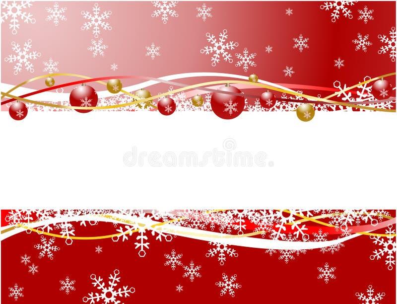 Rote Farbe der Weihnachtsfahne lizenzfreie abbildung