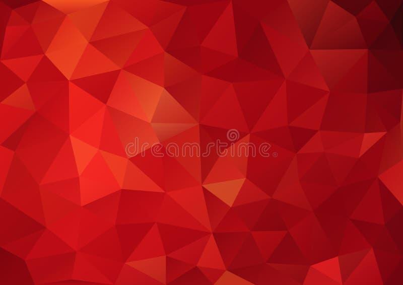 Rote Farbe des Musters geometrisch stock abbildung