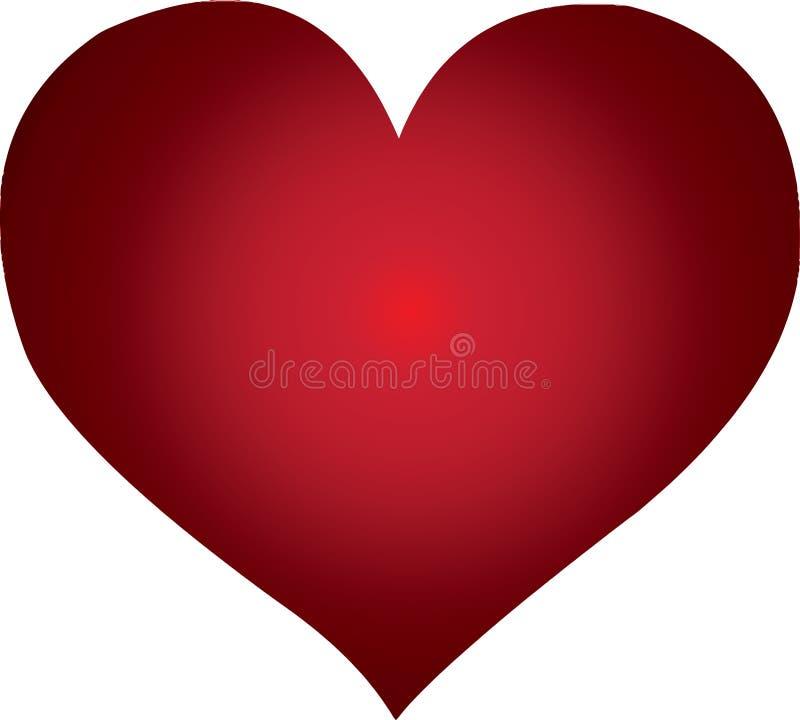 Rote Farben Herz bereit zu explodieren lizenzfreie abbildung