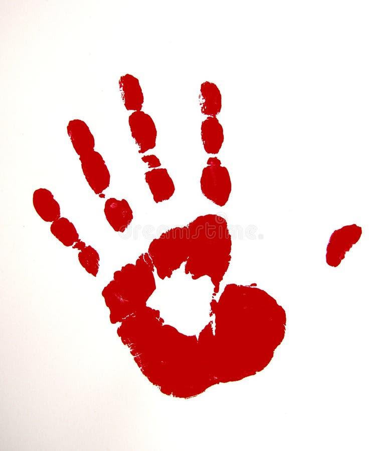 Rote farbige Hand stockbilder