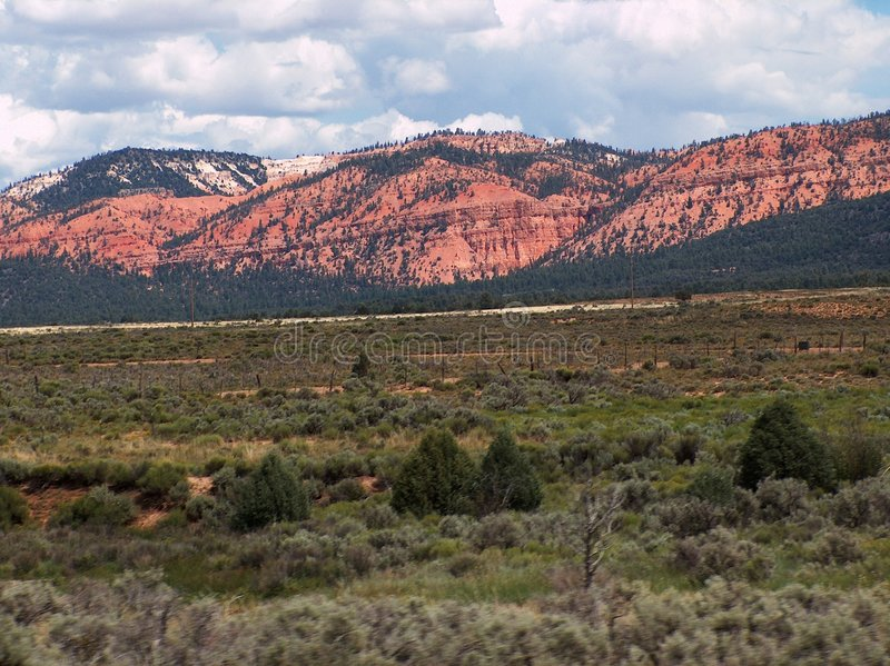Rote Felsen-Berge stockbild