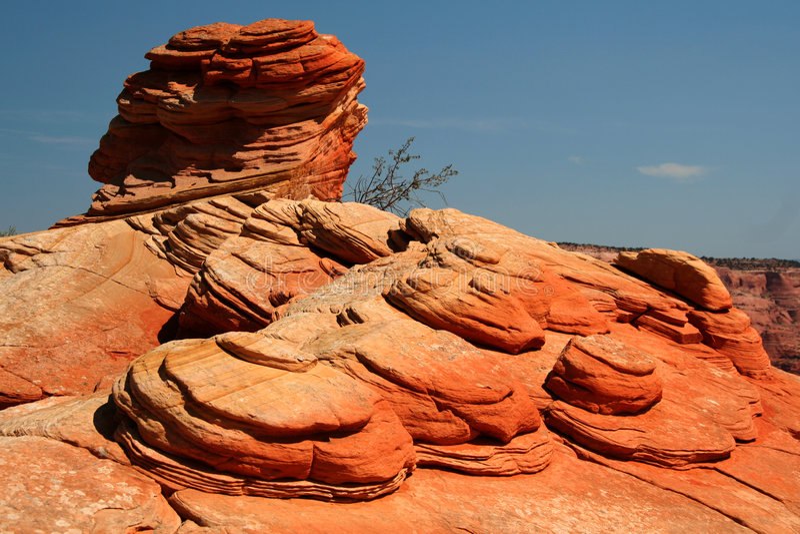 Rote Felsen-Münzen lizenzfreie stockfotografie
