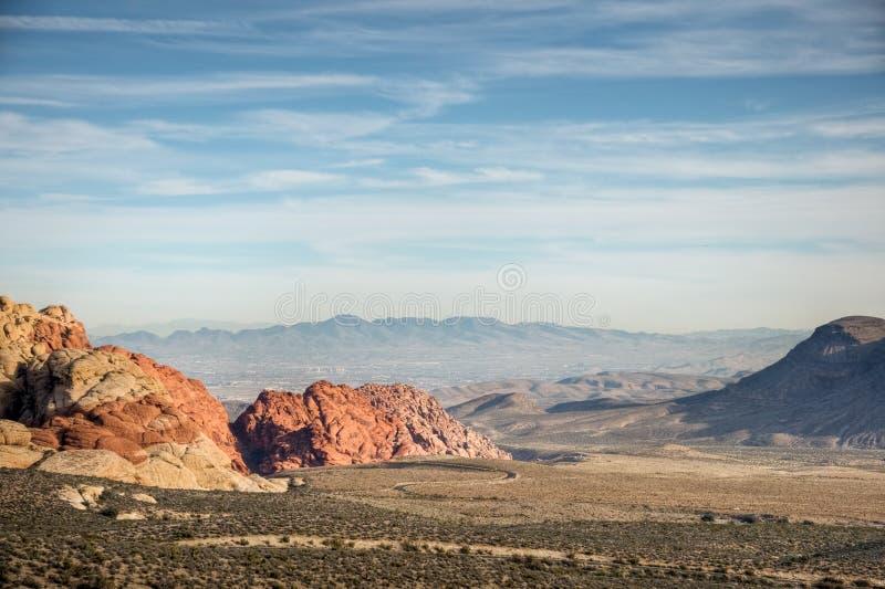 Rote Felsen-Schlucht über Las Vegas lizenzfreie stockfotos