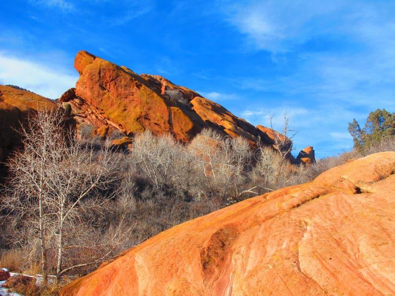 Rote Felsen an seinem Besten lizenzfreies stockbild