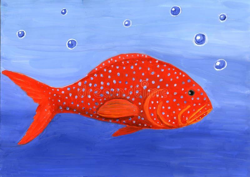 Rote Fische lizenzfreie abbildung