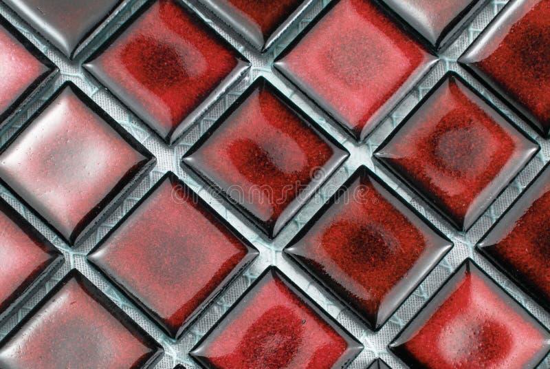 Rote Fliesen lizenzfreie stockbilder