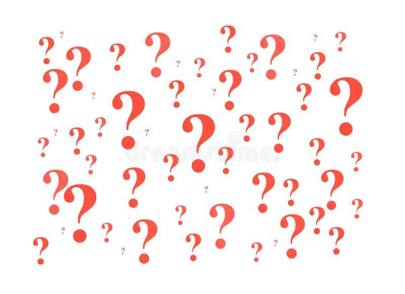 Rote Fragezeichen lizenzfreie stockbilder