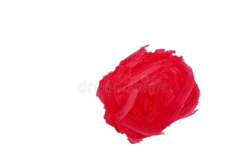 Rote gemalte Stelle auf einem weißen Hintergrund lizenzfreie stockfotografie
