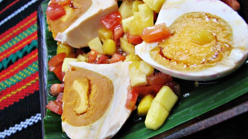Rote gesalzene Ei-Salat-Asiat-Zartheit lizenzfreies stockbild