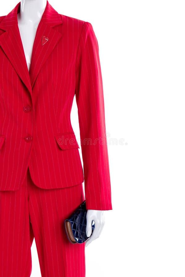 Rote Geschäftsartklage und -geldbörse lizenzfreie stockfotografie