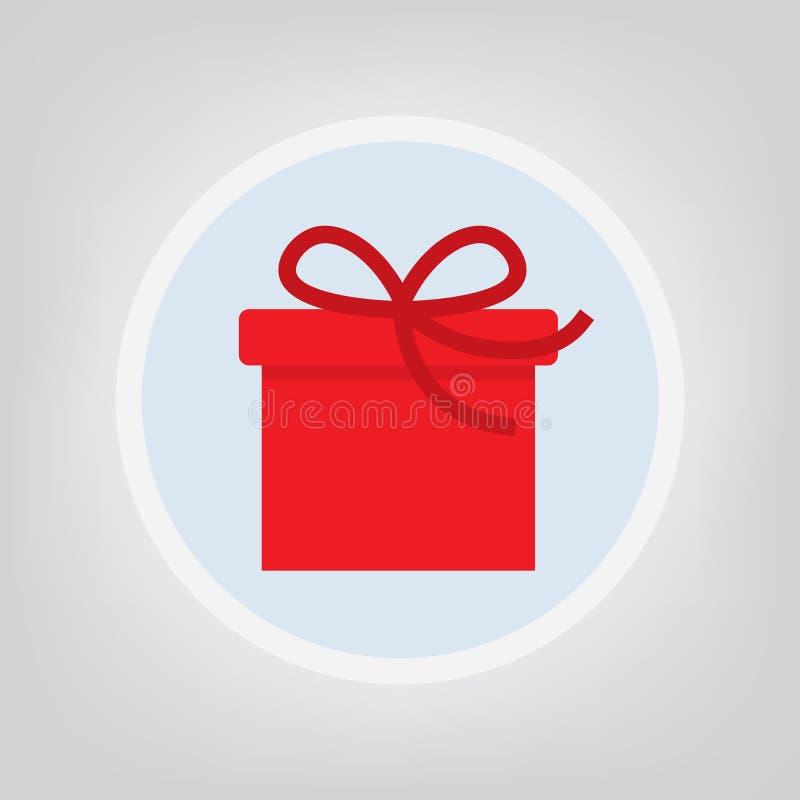 Rote Geschenkboxikone lizenzfreie abbildung