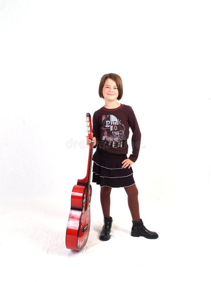 Rote Gitarre lizenzfreie stockfotos