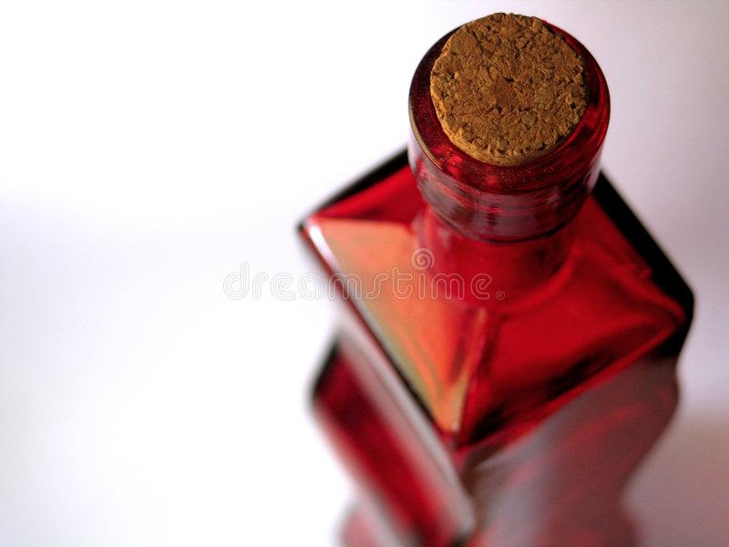 Rote Glasflasche #2 stockfotos