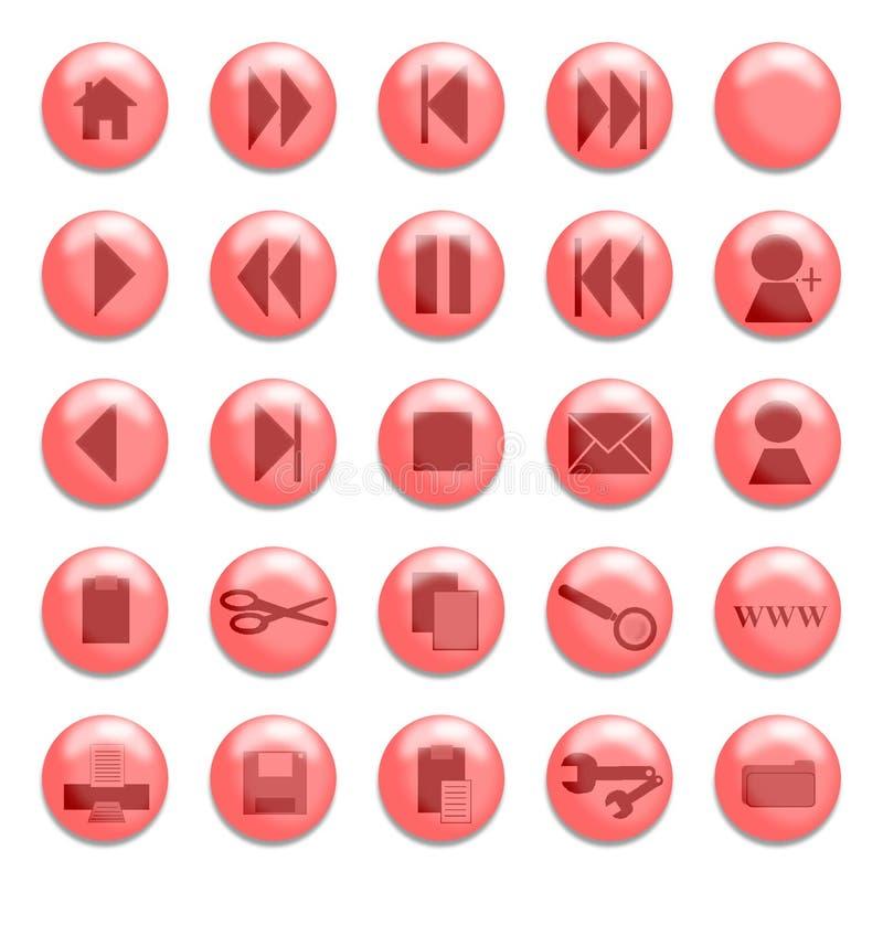 Rote Glastasten lizenzfreie abbildung