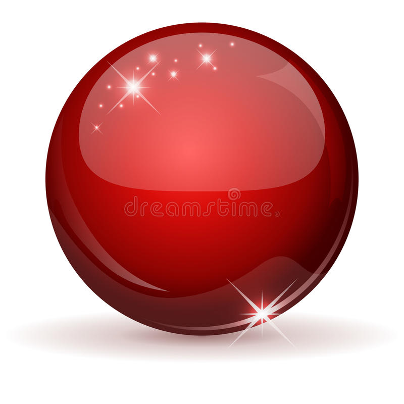 Rote glatte Kugel lizenzfreie abbildung