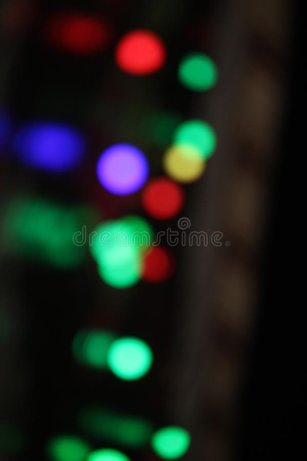 Rote grün-blaue Lampen der bunten Blinklichter stockfotografie