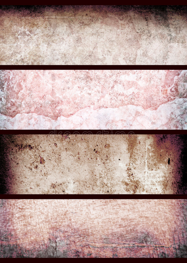 Rote grunge Wand stockfotos