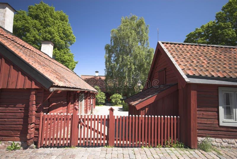 Rote Häuser Bilder rote häuser stockbild bild wohn stadt schwedisch 6265467
