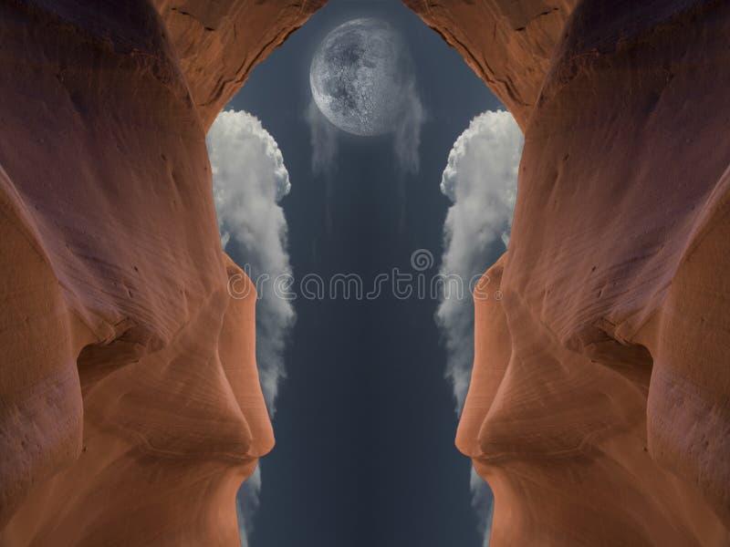 Rote Höhle stockbilder