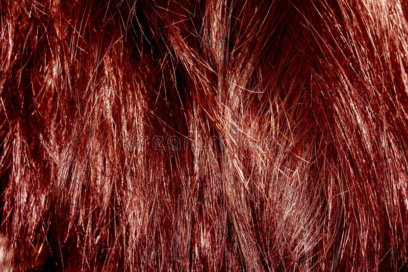 Rote Haar-Beschaffenheit stockbilder
