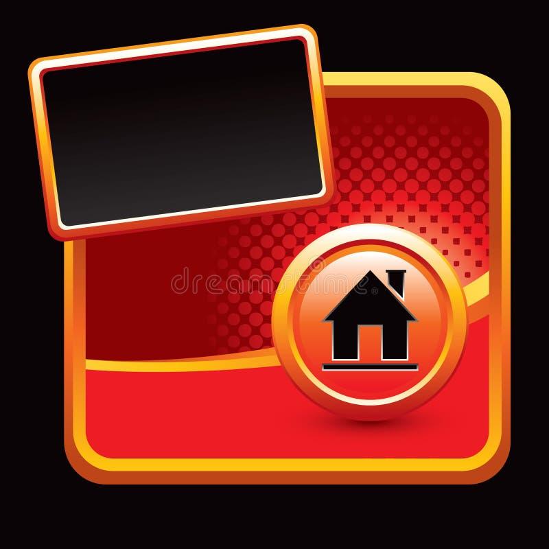 Rote Halbtonfahne mit Hausschattenbild vektor abbildung