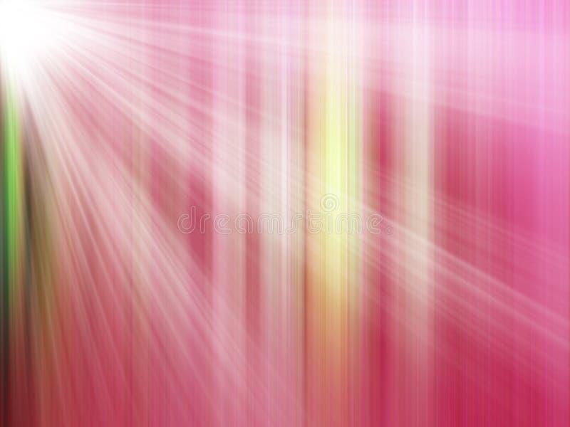 Rote helle Strahlen stock abbildung