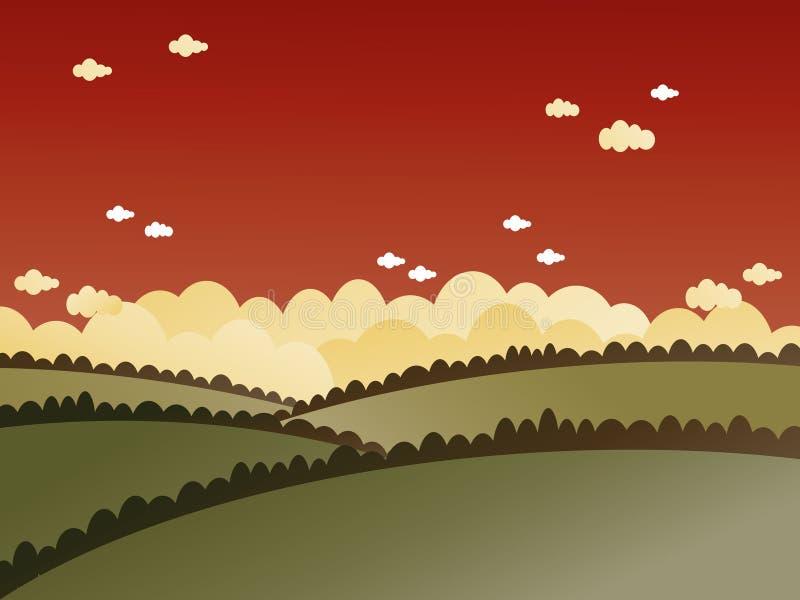 Rote Himmellandschaft vektor abbildung