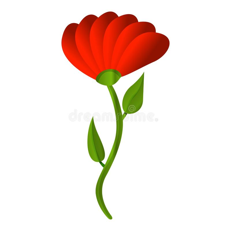 Rote Honigblumenikone, Karikaturart stock abbildung