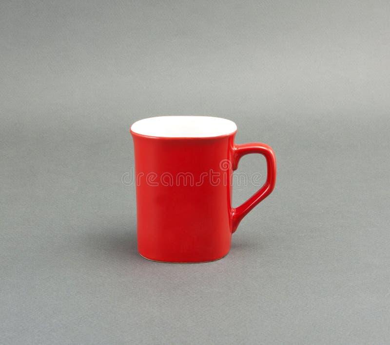 Rote Kaffeetasse lizenzfreies stockfoto