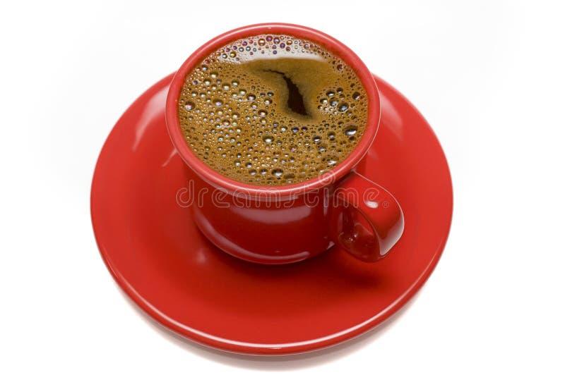 Rote Kaffeetasse stockfotografie