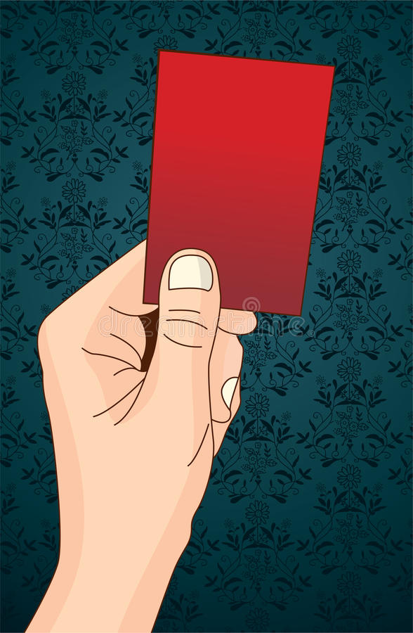 Rote Karte vektor abbildung