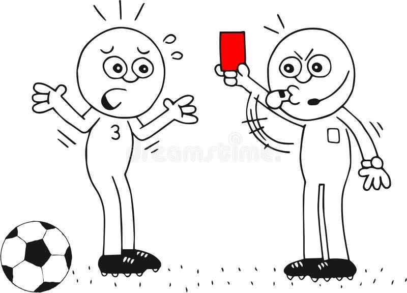 Rote Karte lizenzfreie abbildung