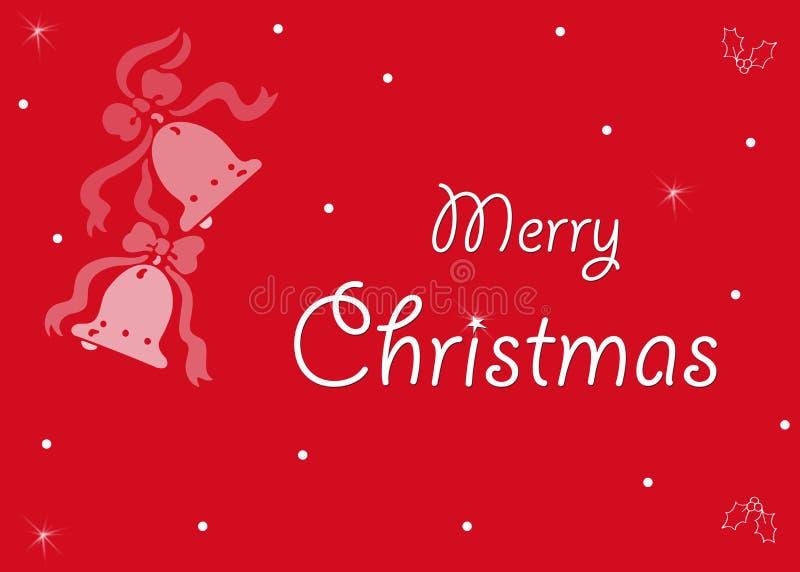 Rote Karte der frohen Weihnachten stockfoto