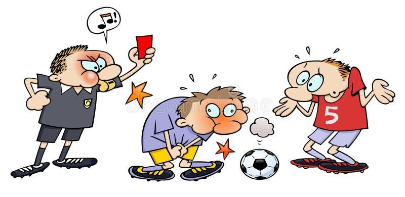 Rote Karte des Fußballs lizenzfreie abbildung