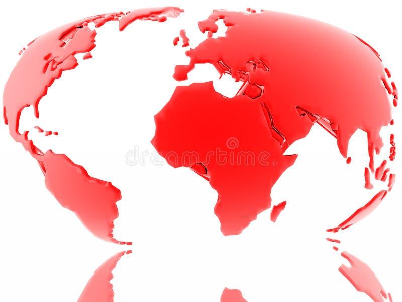 Rote Karte unserer Erde (finden Sie einfach mehr in meinem Portefeuille) lizenzfreie abbildung