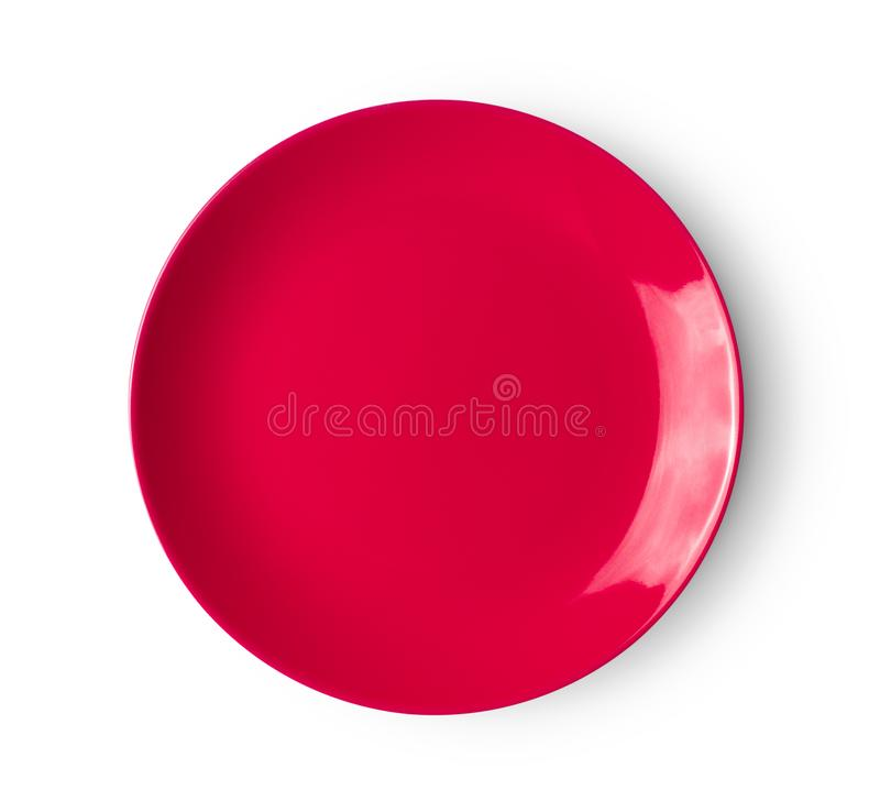 Rote keramische Platte lizenzfreie stockbilder