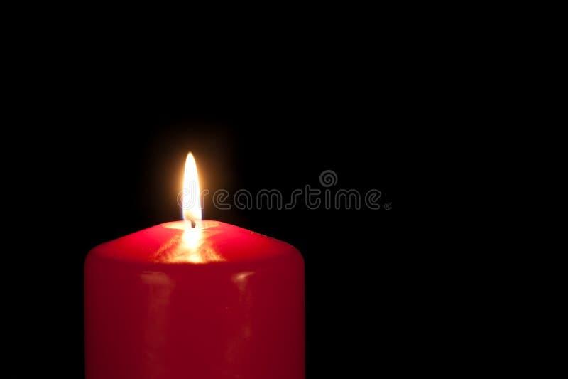 Rote Kerze stockfotografie