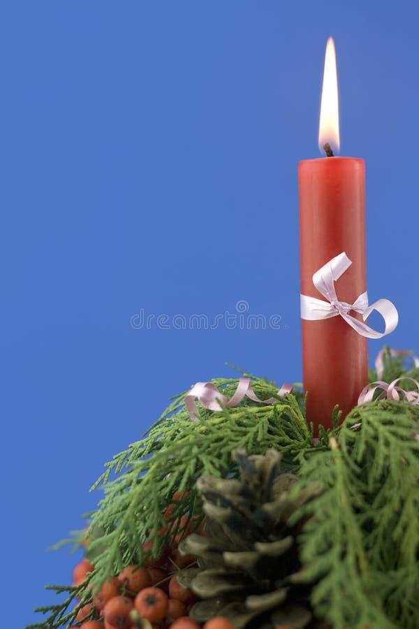 Rote Kerze lizenzfreie stockfotos