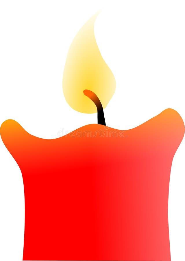 Rote Kerze mit einer Flamme vektor abbildung