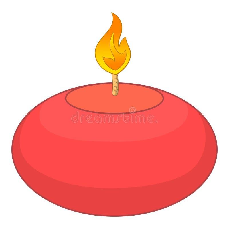 Rote Kerzenikone, Karikaturart lizenzfreie abbildung