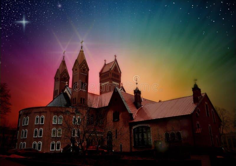 Rote Kirche lizenzfreie stockfotografie