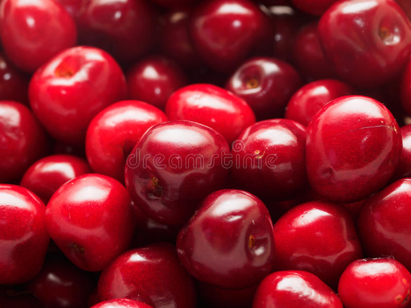 Rote Kirschen lizenzfreie stockbilder
