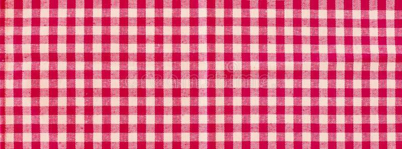 Rote klassische karierte Tischdeckenmusterbeschaffenheit, Hintergrund mit Kopienraum stockfoto