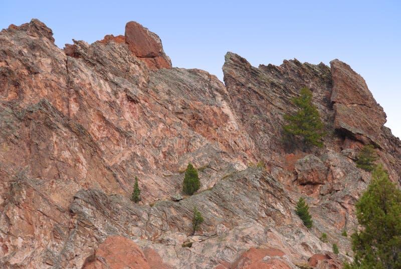 Rote Klippen und Boden stockbilder