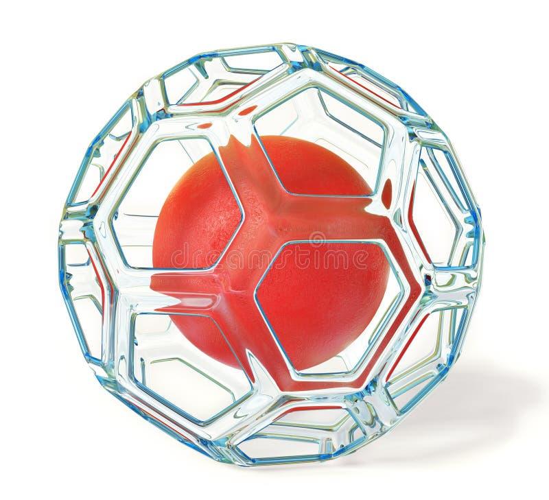 Rote Kugel stock abbildung